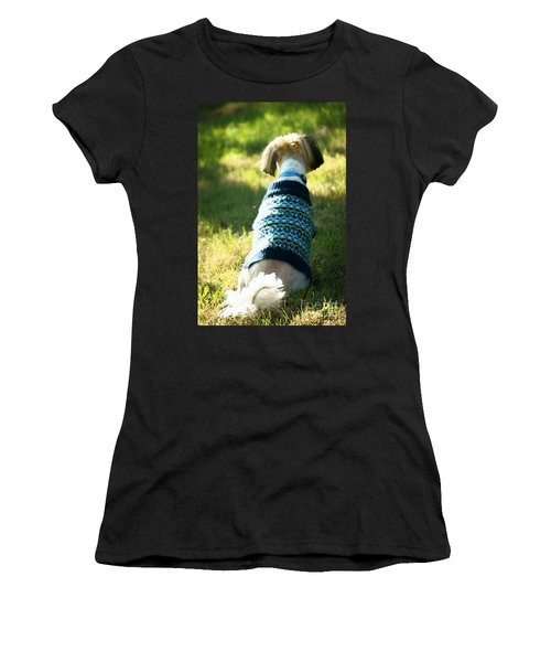 Women's T-Shirt (Junior Cut) featuring the photograph I'll Be Waiting For You by Ellen Cotton