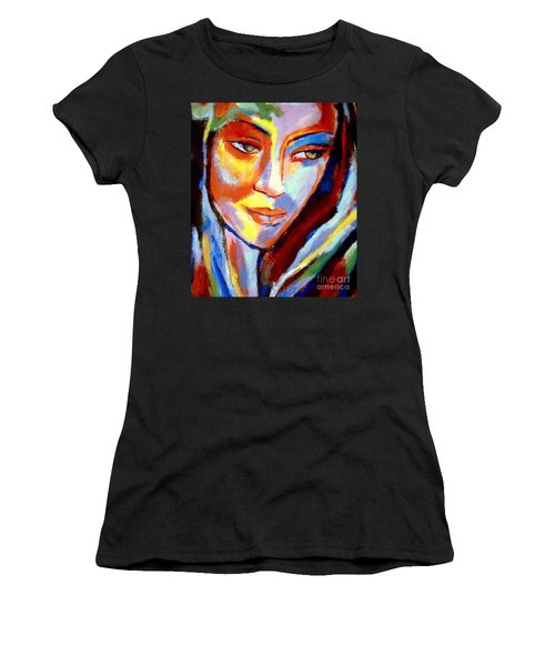 Women's T-Shirt (Junior Cut) featuring the painting Immersed by Helena Wierzbicki