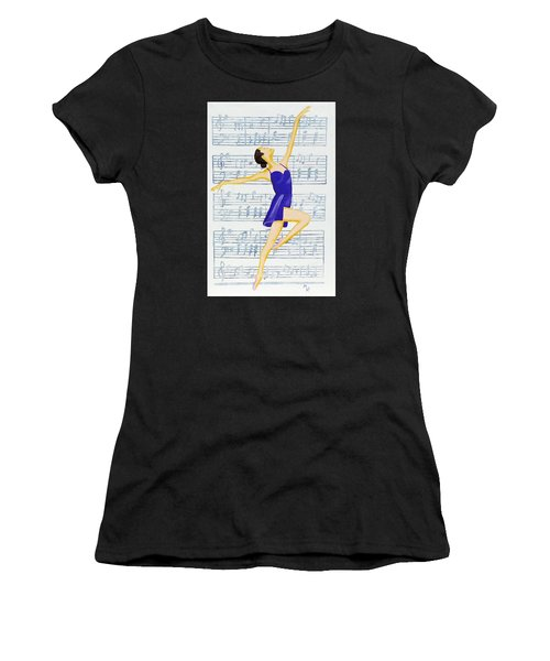 In Sync With The Music Women's T-Shirt (Athletic Fit)