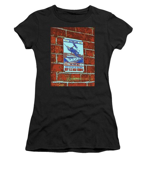 In The Air And On The Sea Poster Women's T-Shirt (Athletic Fit)