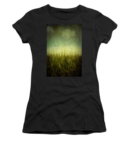 In The Field Women's T-Shirt (Junior Cut) by Trish Mistric