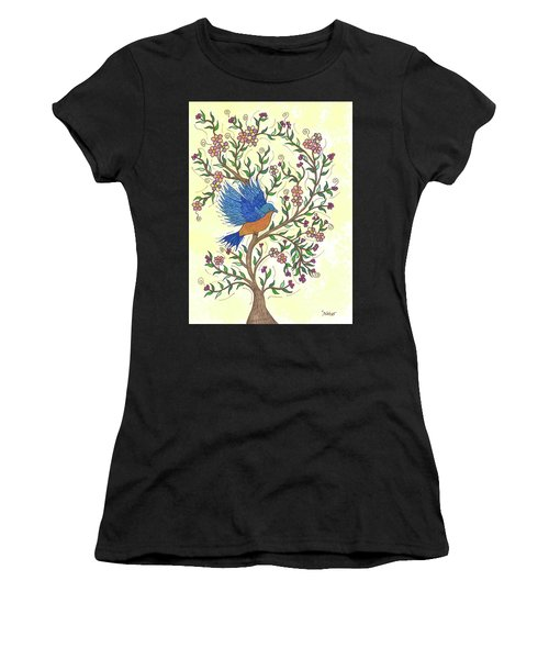 In The Garden - Bluebird Women's T-Shirt (Athletic Fit)