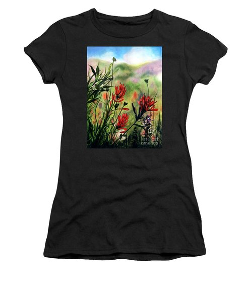Indian Paint Brush Women's T-Shirt (Athletic Fit)