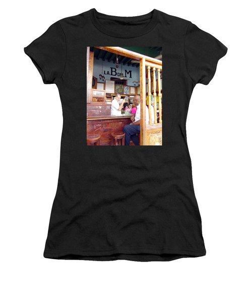 Inside La Bodeguita Del Medio Women's T-Shirt (Junior Cut) by Valentino Visentini