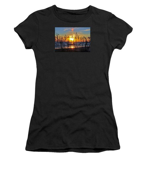 Women's T-Shirt (Junior Cut) featuring the photograph Inside The Sunset by Kicking Bear  Productions