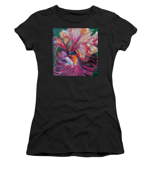Iris - Bold Impressionist Painting Women's T-Shirt (Athletic Fit)