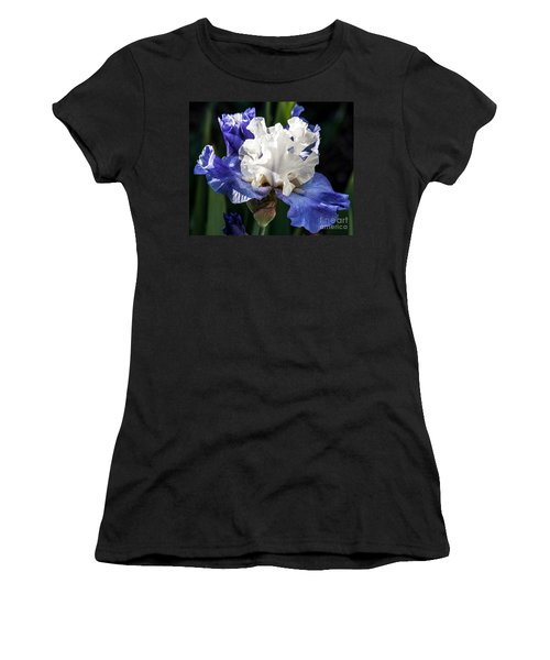 Women's T-Shirt (Junior Cut) featuring the photograph Stairway To Heaven Iris by Roselynne Broussard
