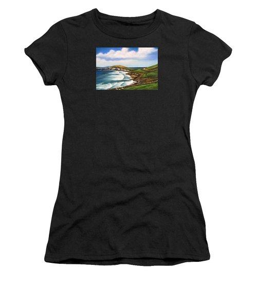 Dingle Peninsula Irish Coastline Women's T-Shirt (Athletic Fit)