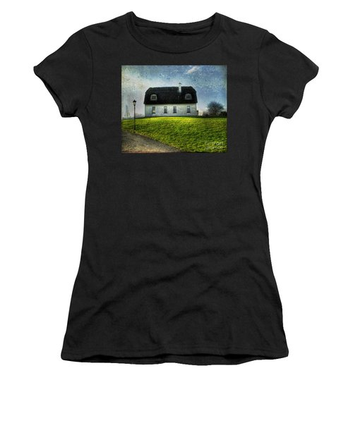 Irish Thatched Roofed Home Women's T-Shirt (Junior Cut) by Juli Scalzi