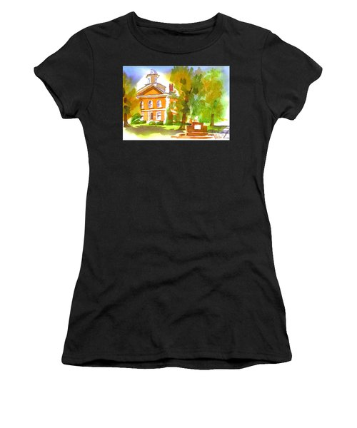 Iron County Courthouse In Watercolor Women's T-Shirt