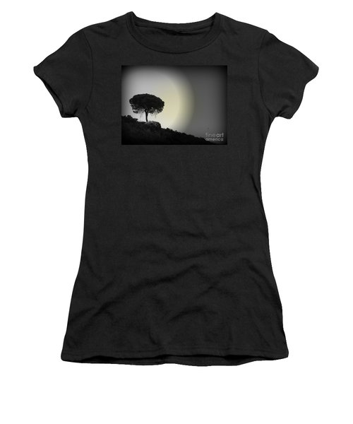 Women's T-Shirt (Junior Cut) featuring the photograph Isolation Tree by Clare Bevan