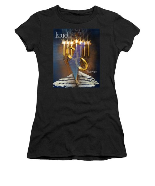 Israel Forever Women's T-Shirt (Athletic Fit)