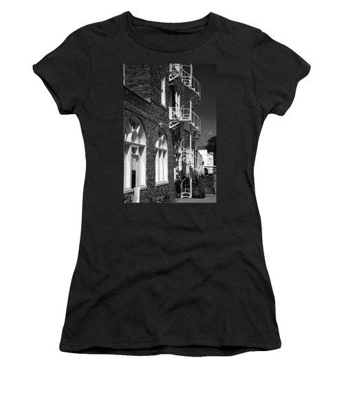 Jacaranda Hotel Fire Escape Women's T-Shirt (Athletic Fit)