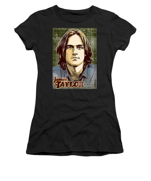 James Taylor Pop Art Women's T-Shirt (Athletic Fit)