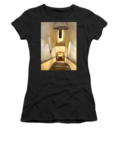 Jantar Mantar Staircase Women's T-Shirt (Athletic Fit)
