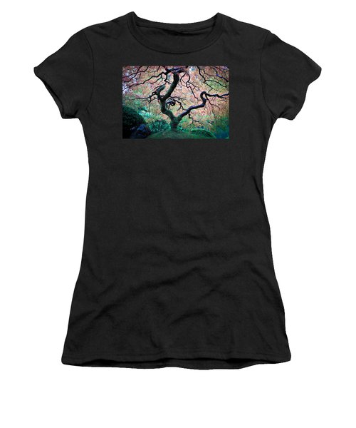 Japanese Maple In Autumn Women's T-Shirt (Athletic Fit)