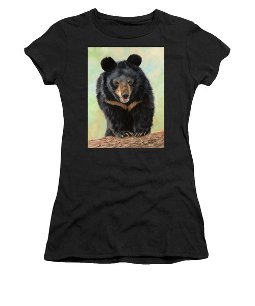 Jasper Moon Bear - In Support Of Animals Asia Women's T-Shirt (Junior Cut) by David Stribbling