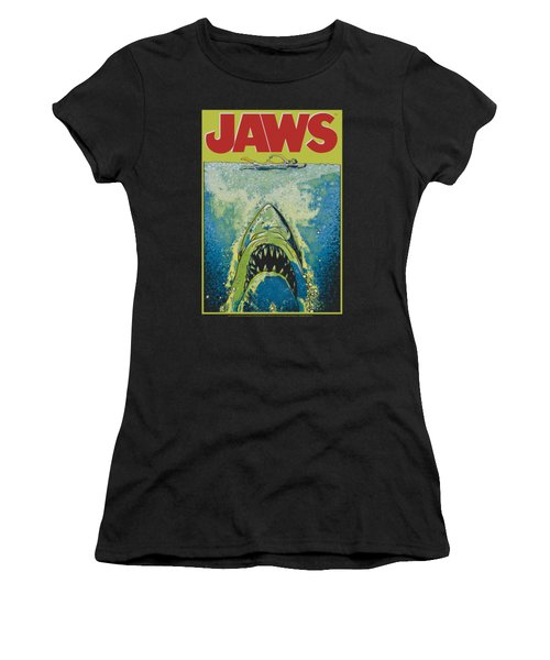 Jaws - Bright Jaws Women's T-Shirt (Athletic Fit)