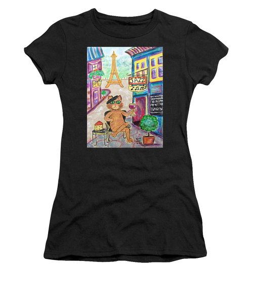 Jazz Cat Women's T-Shirt (Athletic Fit)
