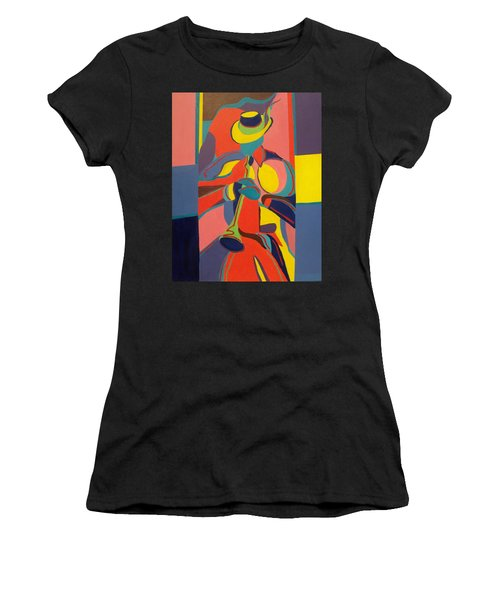 Jazzamatazz Horn Women's T-Shirt (Athletic Fit)