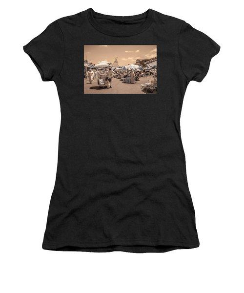 Jemaa El Fna Market In Marrakech Women's T-Shirt