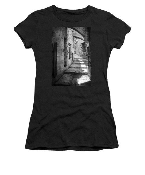 Jerusalem Street Women's T-Shirt (Junior Cut) by Alexey Stiop