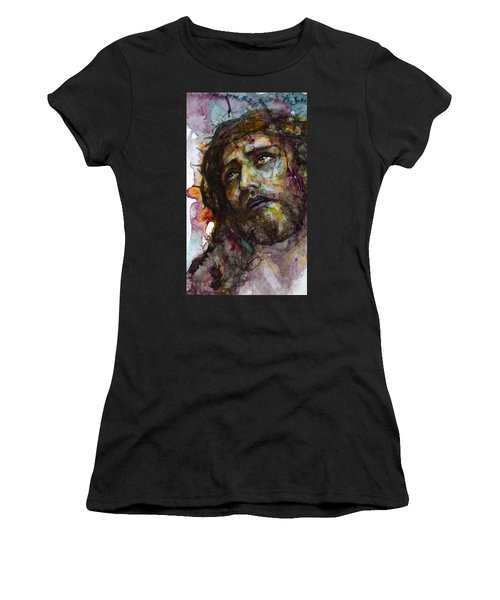 Women's T-Shirt (Junior Cut) featuring the painting Jesus Christ by Laur Iduc