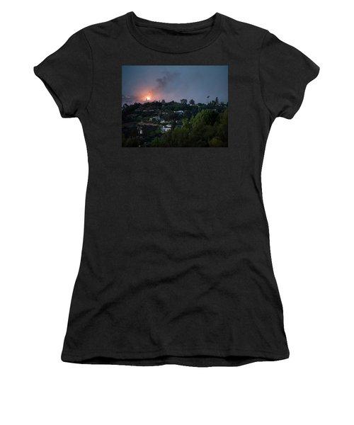 Jesusita Wildfire Burn In The Distance Women's T-Shirt