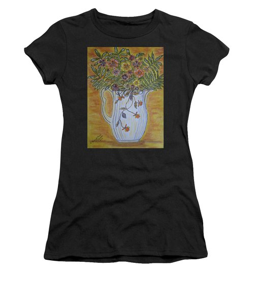 Jewel Tea Pitcher With Marigolds Women's T-Shirt (Athletic Fit)