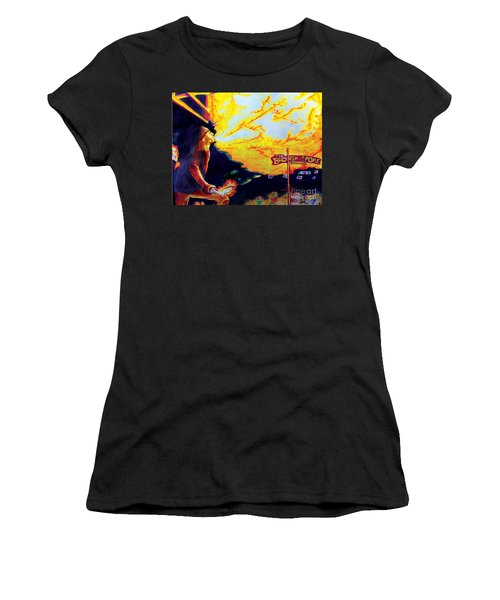 Joe At The Broken Spoke Saloon Women's T-Shirt (Junior Cut) by Albert Puskaric