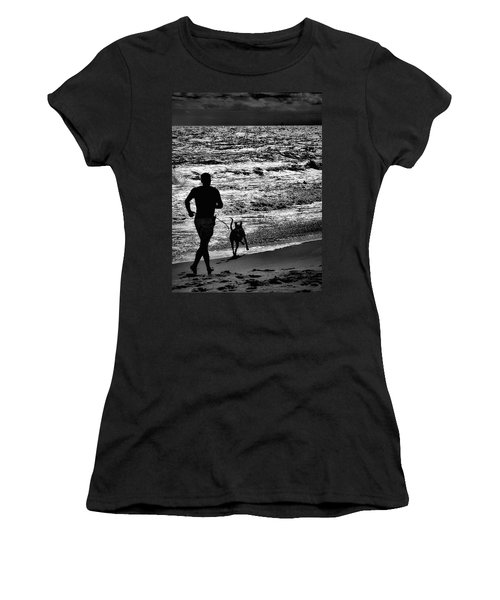 Joggin Wit Dad Women's T-Shirt (Junior Cut) by Robert McCubbin