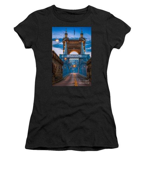 John A. Roebling Suspension Bridge Women's T-Shirt