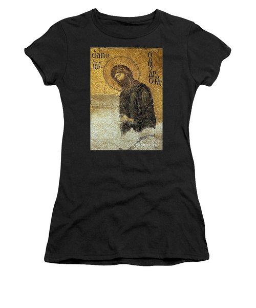 John The Baptist-detail Of Deesis Mosaic  Hagia Sophia-judgement Day Women's T-Shirt