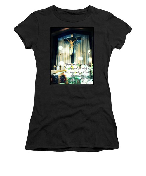 John316 - Easter Crucifix Women's T-Shirt (Junior Cut) by Sharon Soberon