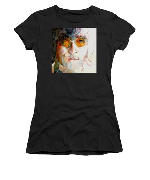 John Winston Lennon Women's T-Shirt (Athletic Fit)
