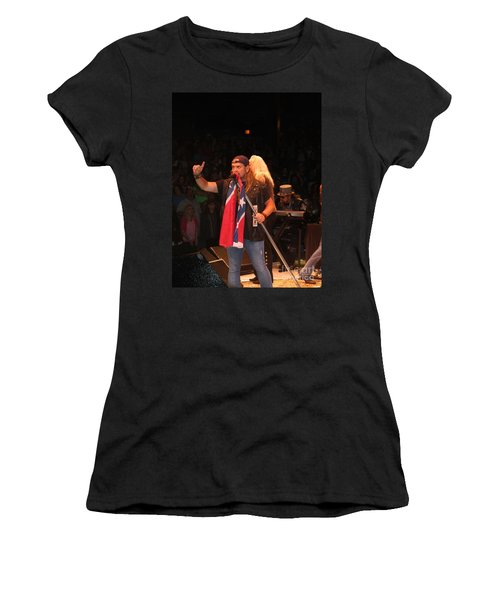 Johnny Van Zant Of Lynyrd Skynyrd Women's T-Shirt (Athletic Fit)