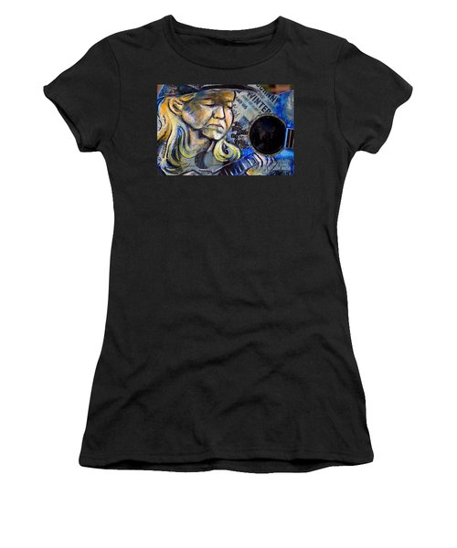 Johnny Winter Painted Guitar Women's T-Shirt (Athletic Fit)