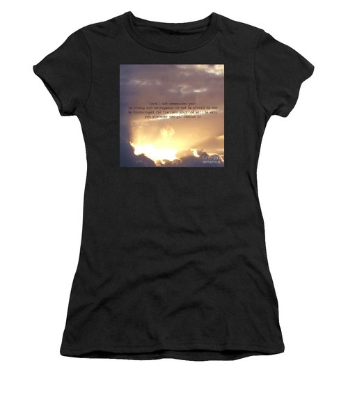 Joshua 1 Women's T-Shirt (Athletic Fit)