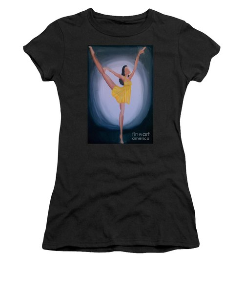 Women's T-Shirt (Junior Cut) featuring the painting Joy by Marisela Mungia