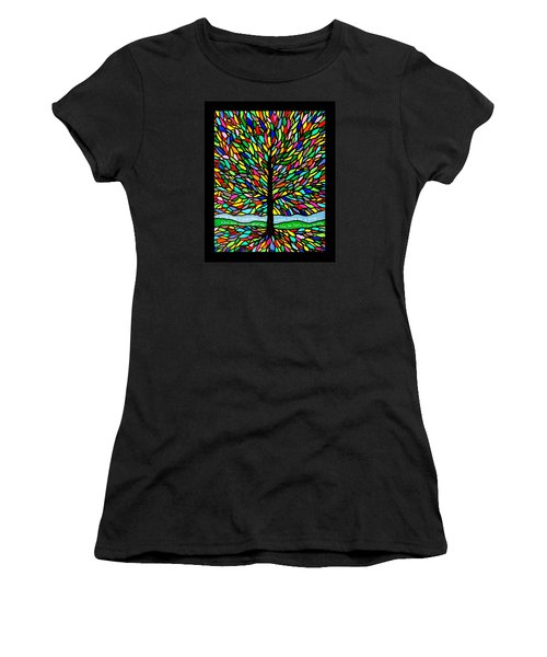 Joyce Kilmer's Tree Women's T-Shirt (Junior Cut) by Jim Harris