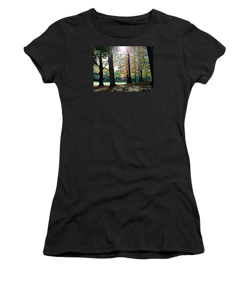 Women's T-Shirt (Junior Cut) featuring the photograph Just A Glimpse Of Sunlight by Rita Brown