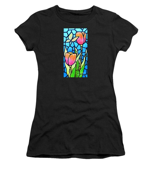 Women's T-Shirt (Junior Cut) featuring the painting Just Visiting by Jim Harris