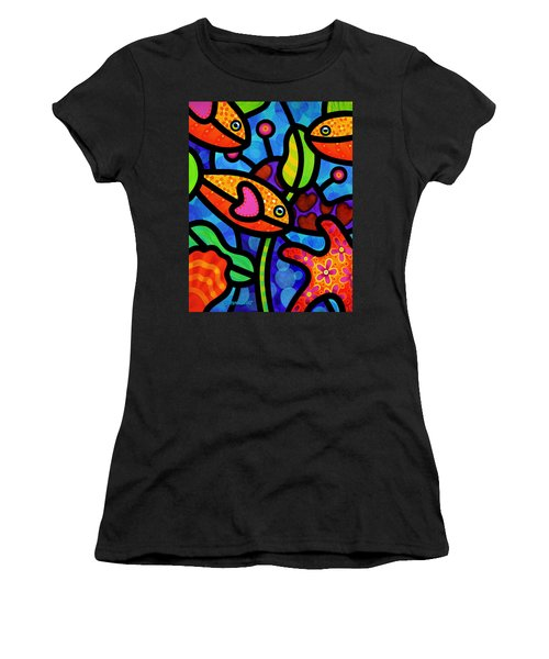 Kaleidoscope Reef Women's T-Shirt (Athletic Fit)