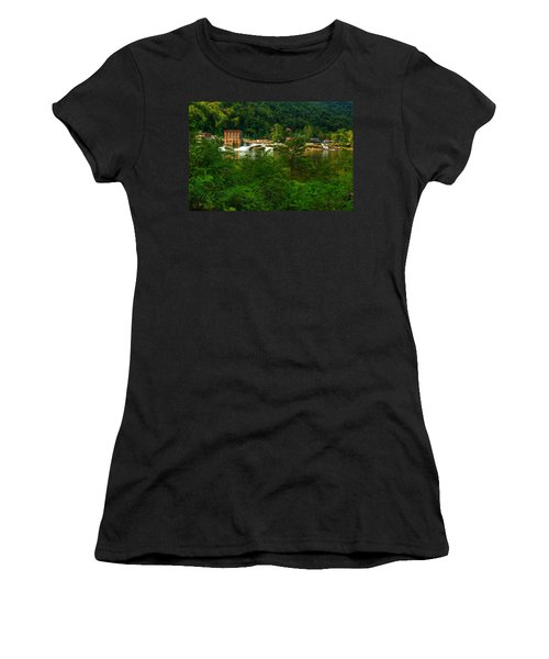Kanawha Falls Women's T-Shirt (Junior Cut) by Dave Files