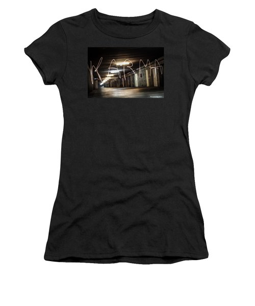 Women's T-Shirt featuring the photograph Karma Light Painting by Stwayne Keubrick