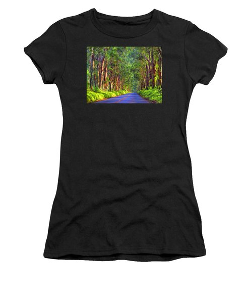 Kauai Tree Tunnel Women's T-Shirt (Athletic Fit)