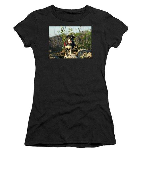 Women's T-Shirt (Junior Cut) featuring the photograph Kayaker's Best Friend by James Peterson