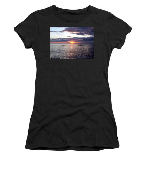 Kayaks At Sunset Women's T-Shirt