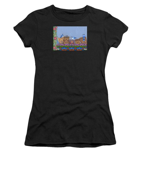 Women's T-Shirt (Athletic Fit) featuring the painting Keeper Of Songs by Chholing Taha