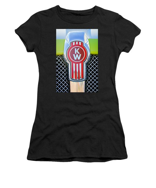 Kenworth Truck Emblem -1196c Women's T-Shirt (Junior Cut) by Jill Reger